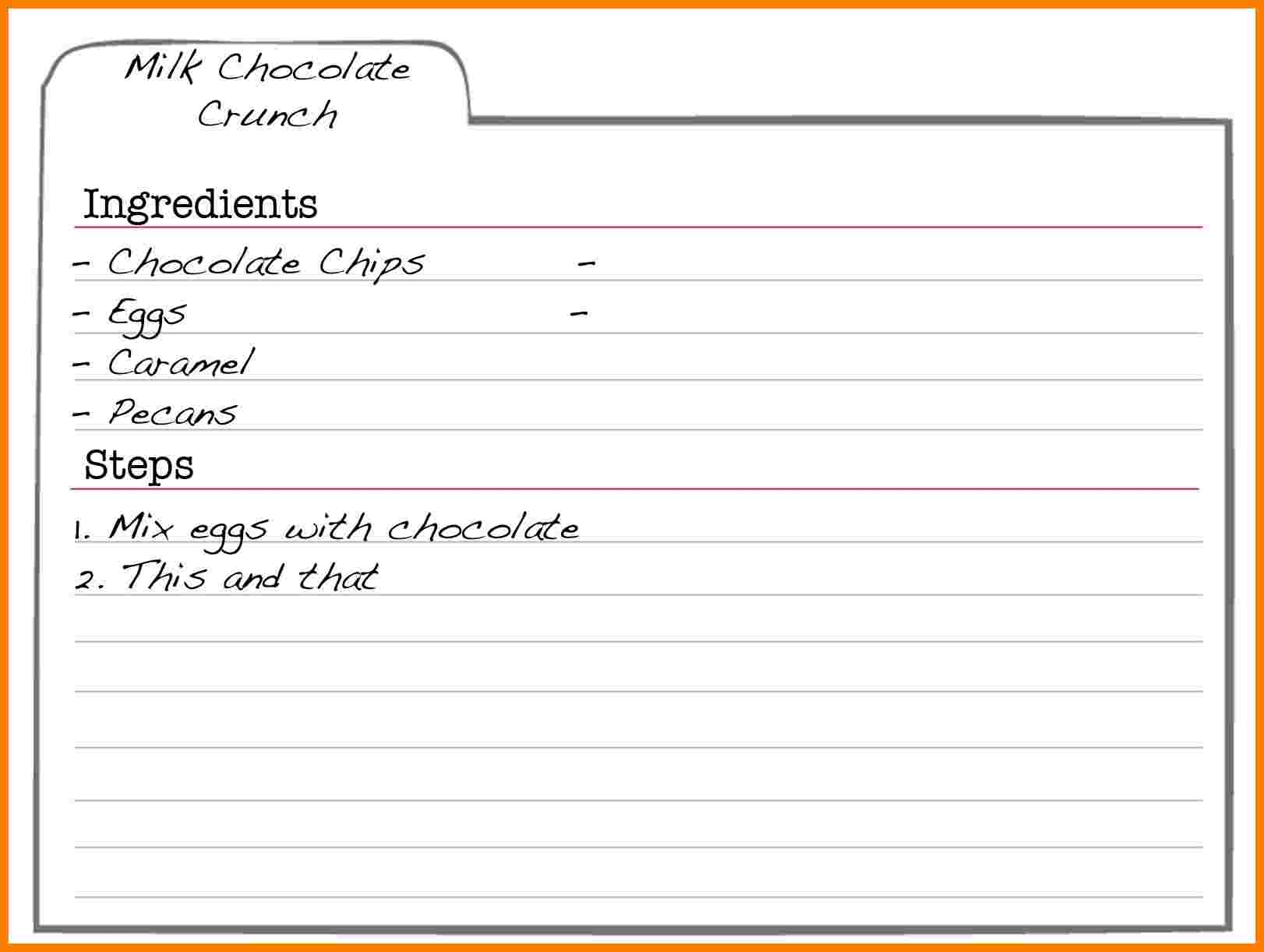How To Make A Recipe Card In Word - Image Of Food Recipe Regarding Full Page Recipe Template For Word