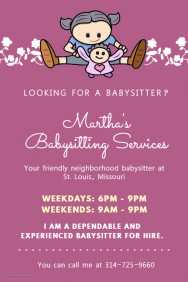 75 Creating Babysitter Flyer Template Templates for Babysitter Flyer Template