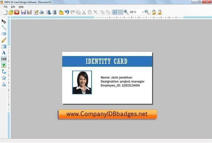 75 Creating Id Card Template Design Software For Free For Id Card Template Design Software Cards Design Templates