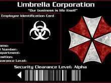 Umbrella Corporation Id Card Template