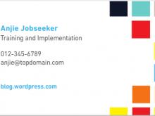 75 Customize Business Card Template For Job Seeker Layouts with Business Card Template For Job Seeker