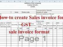 Tax Invoice Format Excel