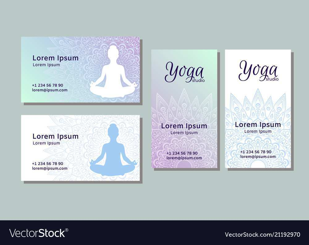 75 Format Business Card Template Yoga Download by Business Card Template Yoga