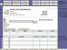 75 Format Car Repair Invoice Template Excel For Free by Car Repair Invoice Template Excel
