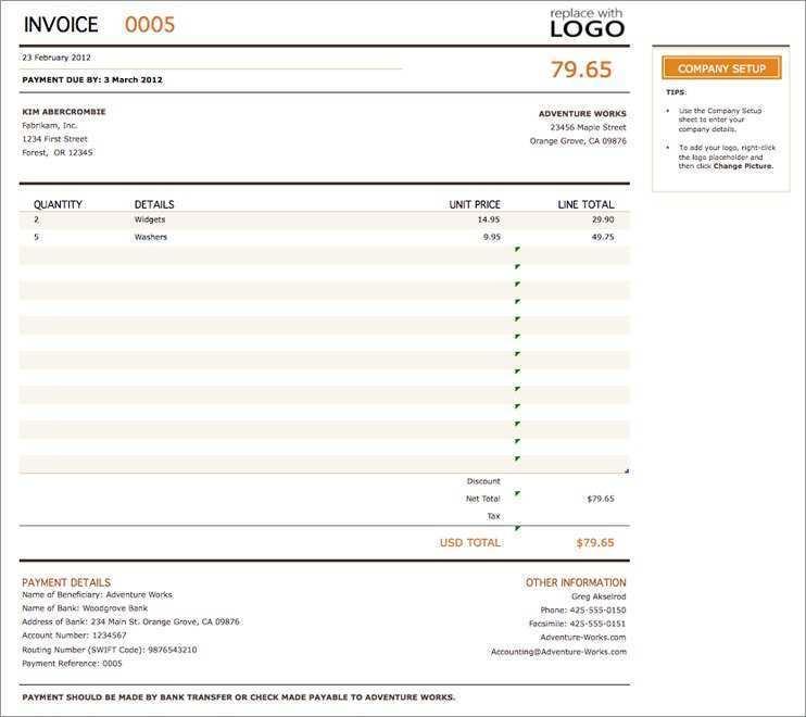 75 Free Blank Vat Invoice Template for Blank Vat Invoice Template