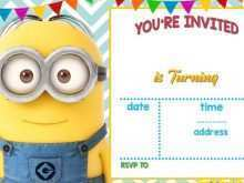 Minion Thank You Card Template