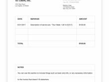 Blank Vat Invoice Template