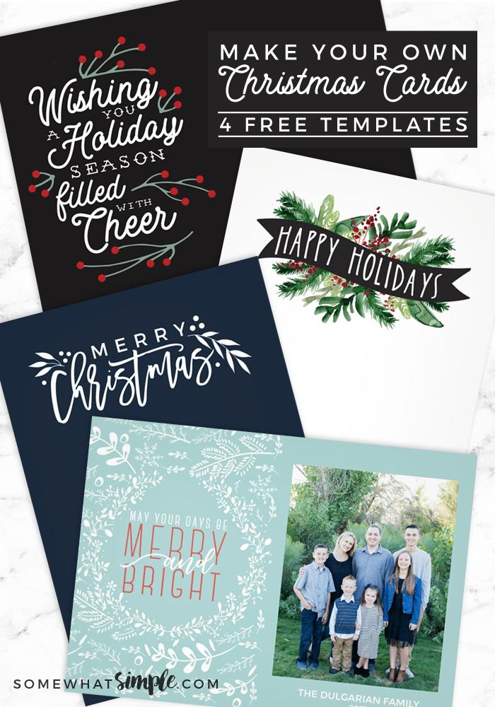 75 Printable Christmas Card Templates Free for Ms Word by Christmas Card Templates Free