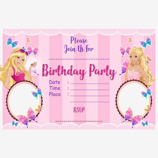 75 Report Birthday Card Template Barbie Photo for Birthday Card Template Barbie