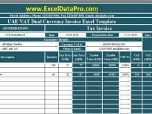 Uae Vat Invoice Format With Discount