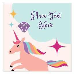 75 Standard Birthday Card Template Unicorn For Free for Birthday Card Template Unicorn