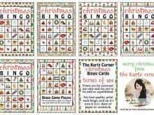 75 Standard Christmas Bingo Card Template Templates for Christmas Bingo Card Template
