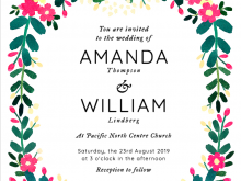 Invitation Card Name Stickers Template