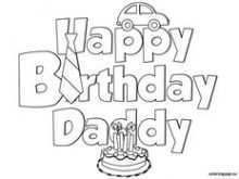 75 The Best Happy Birthday Card Template For Dad Maker by Happy Birthday Card Template For Dad