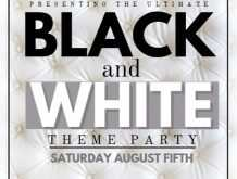 White Party Flyer Template Free