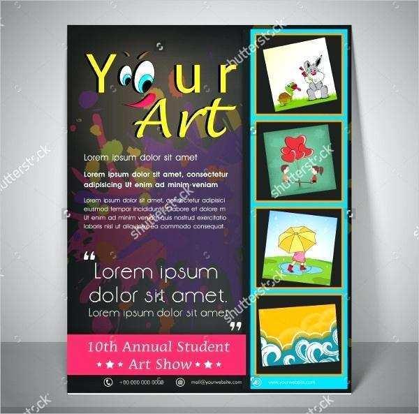 76 Adding Art Show Flyer Template Free Maker for Art Show Flyer Template Free