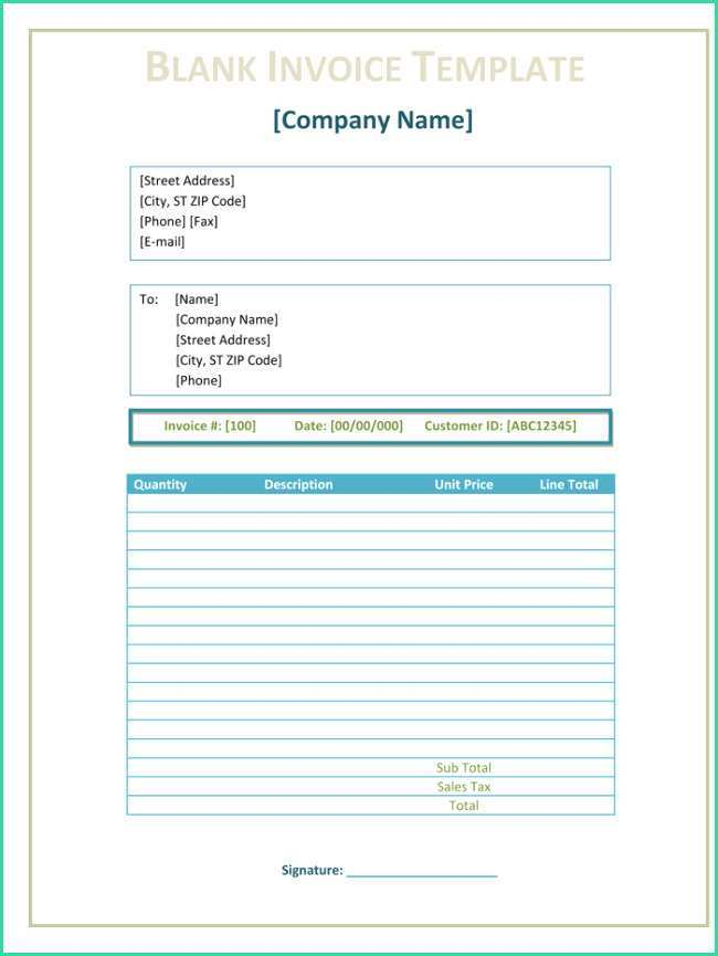76 Adding Blank Invoice Template Online in Photoshop with Blank Invoice Template Online