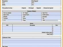 Repair Service Invoice Template