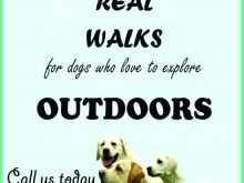 Dog Walking Flyers Templates