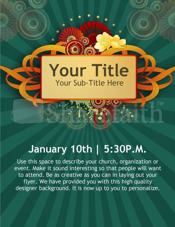 76 Church Event Flyer Templates Now for Church Event Flyer Templates