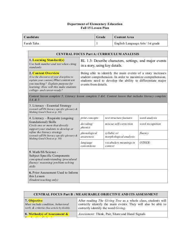 76 Create 6 Class Lesson Plan Template With Stunning Design for 6 Class Lesson Plan Template
