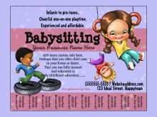 76 Create Babysitting Flyer Free Template Photo for Babysitting Flyer Free Template