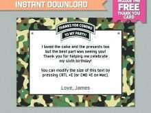 76 Creating Army Birthday Card Template Photo for Army Birthday Card Template