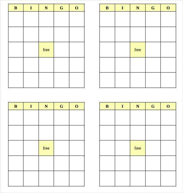 76 Creating Bingo Card Template 5X5 For Free with Bingo Card Template 5X5