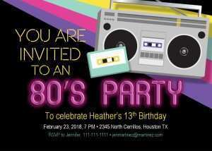 76 Creative 80S Birthday Card Template PSD File with 80S Birthday Card Template