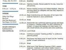 76 Creative Event Agenda Planning Template in Photoshop by Event Agenda Planning Template