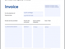 76 Creative Template Of Company Invoice in Photoshop for Template Of Company Invoice