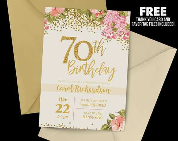 76 Customize Our Free 70Th Birthday Card Template Free in Photoshop with 70Th Birthday Card Template Free