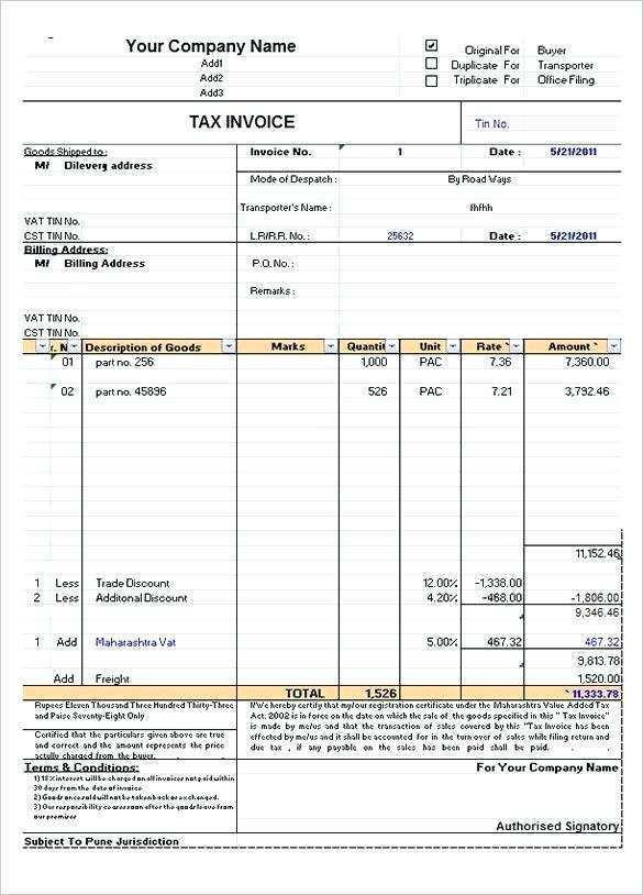 76 Customize Tax Invoice Format Gst In Excel For Ms Word For Tax Invoice Format Gst In Excel Cards Design Templates