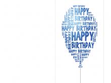 Birthday Card Template Excel