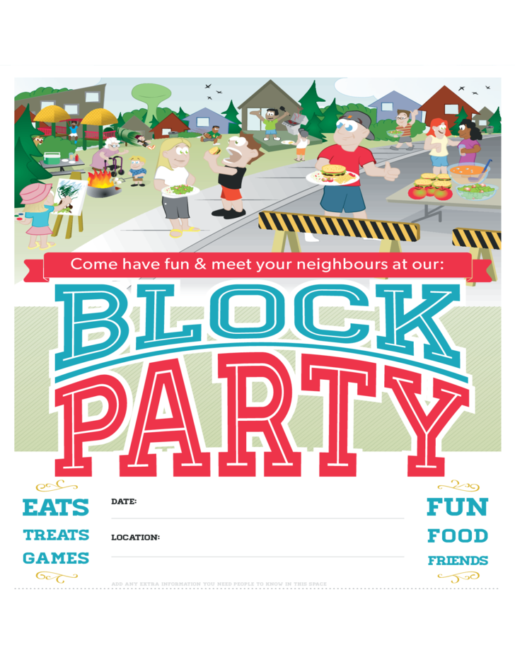 76 Format Block Party Template Flyers Free Layouts with Block Party Template Flyers Free