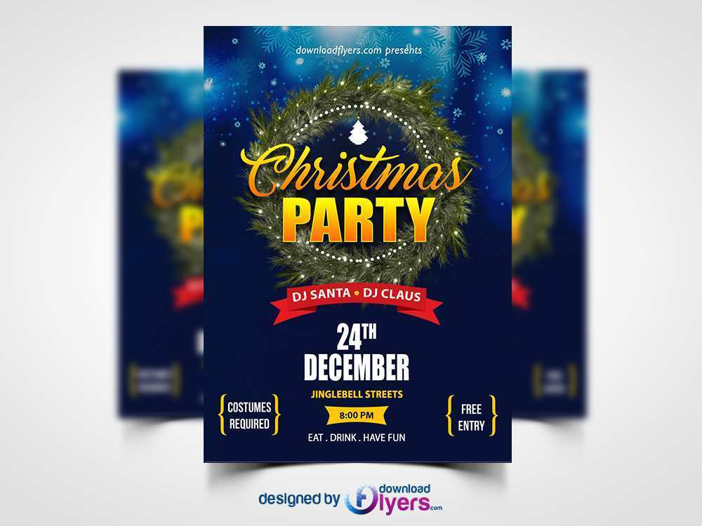 76 Format Christmas Party Flyers Templates Free in Word by Christmas Party Flyers Templates Free