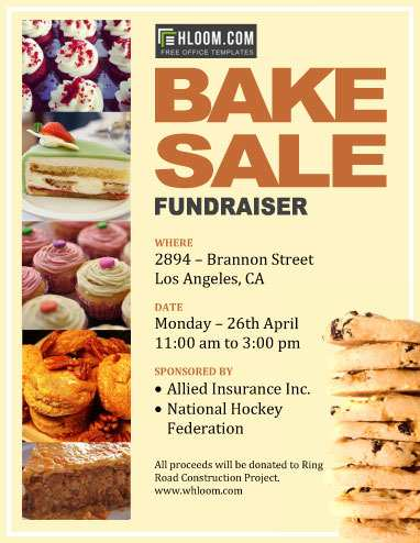 76 Free Bake Sale Flyer Template Word Now with Bake Sale Flyer Template Word