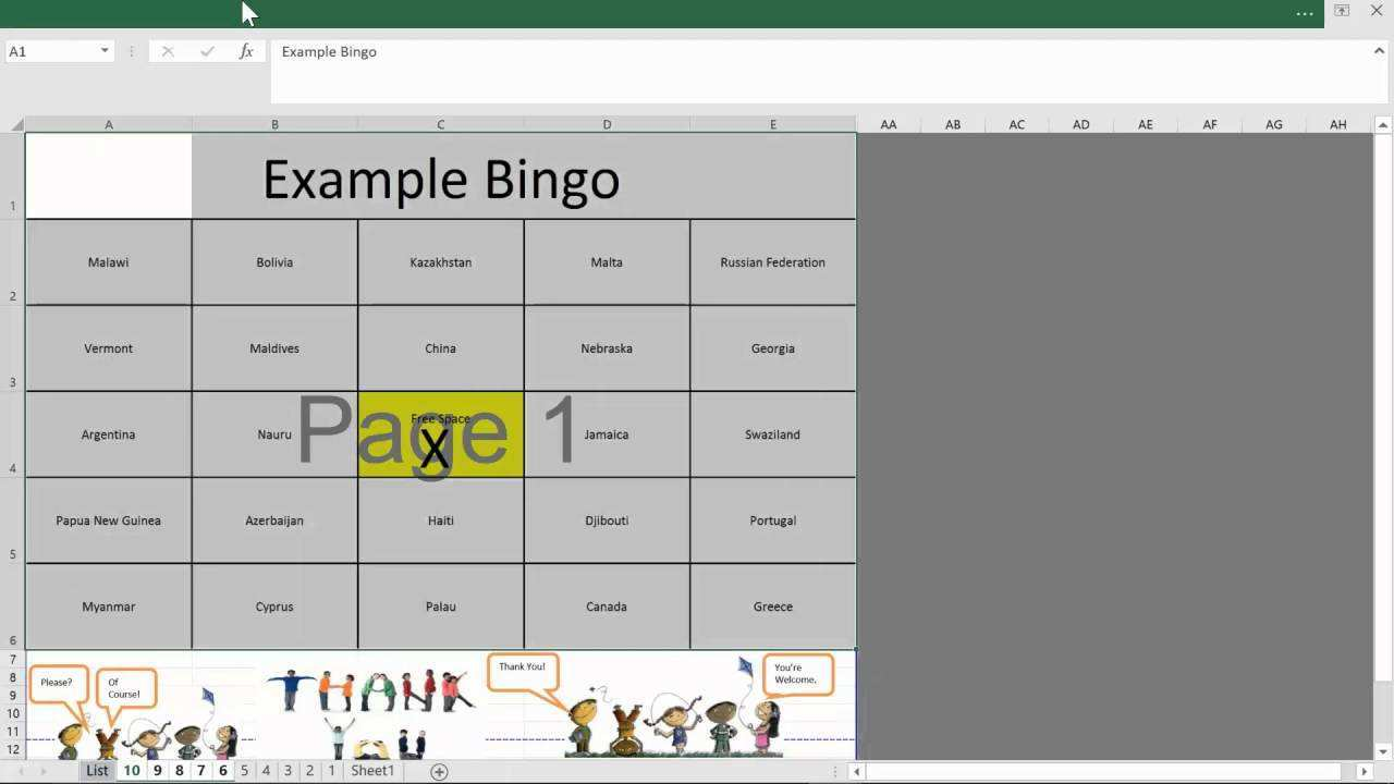 76 Free Bingo Card Template 5X5 Excel Layouts for Bingo Card Template 5X5 Excel