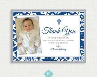 76 Free Printable Christening Thank You Card Templates Photo for Christening Thank You Card Templates