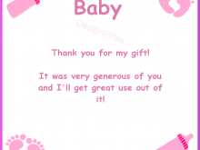 Thank You Card Template Word Baby Shower