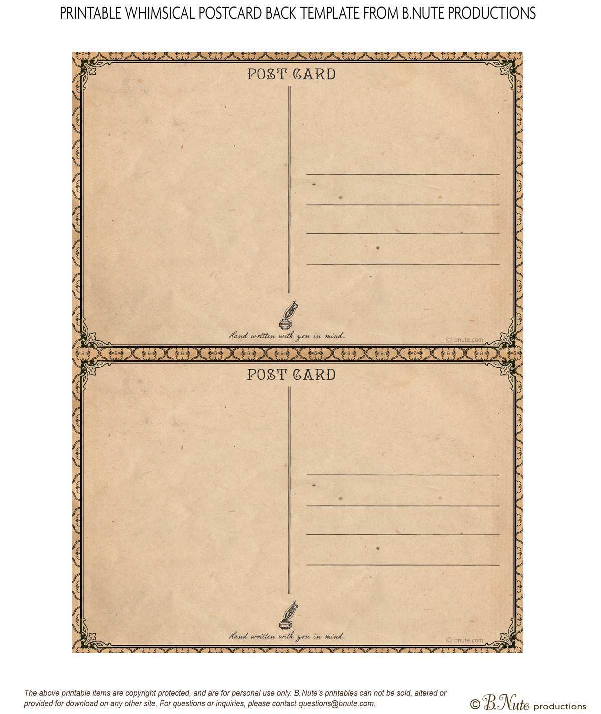76 How To Create Template Of Postcard Free Printable Formating with Template Of Postcard Free Printable
