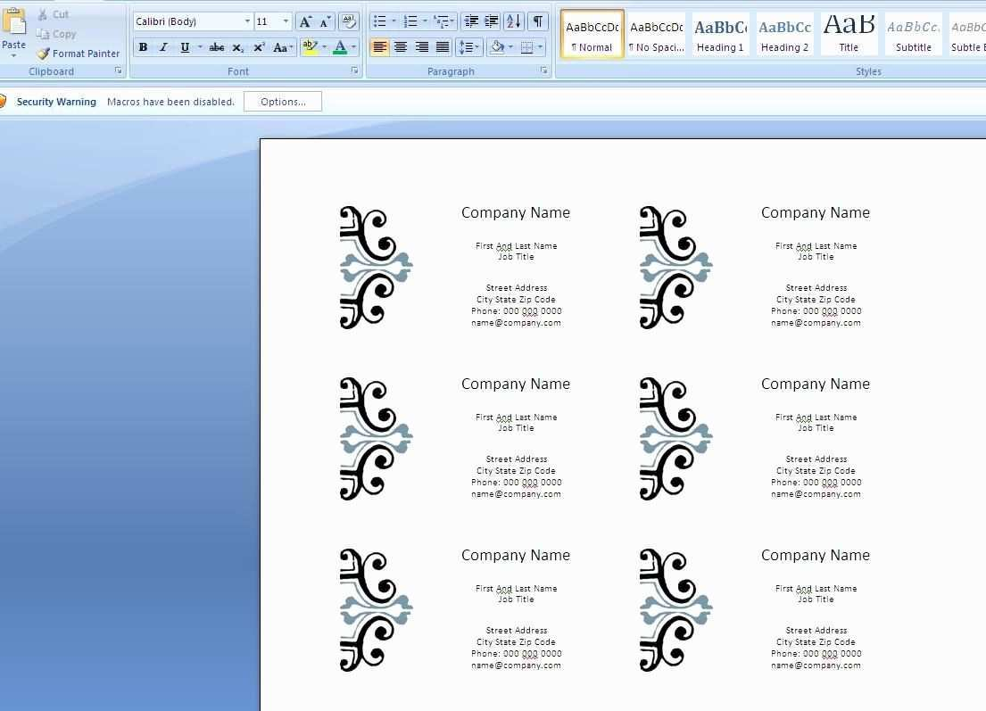 76 Report Card Template For Word 2007 Maker for Card Template For Word 2007