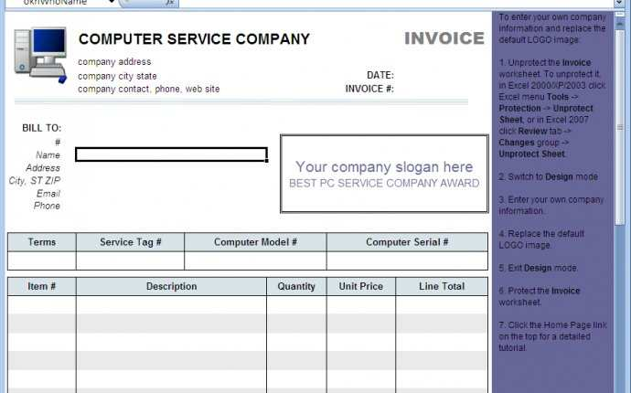 76 Standard Computer Repair Invoice Template Download by Computer Repair Invoice Template