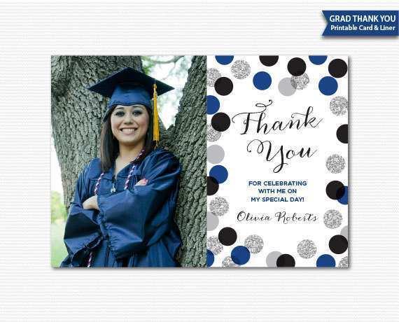 graduation thank you card templates free  cards design
