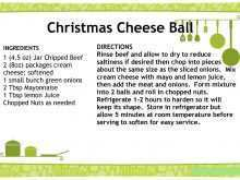 Holiday Recipe Card Template For Word 4X6