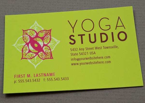 76 The Best Yoga Teacher Business Card Templates In Word By Yoga