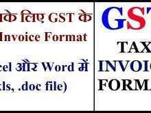Service Tax Invoice Format Xls