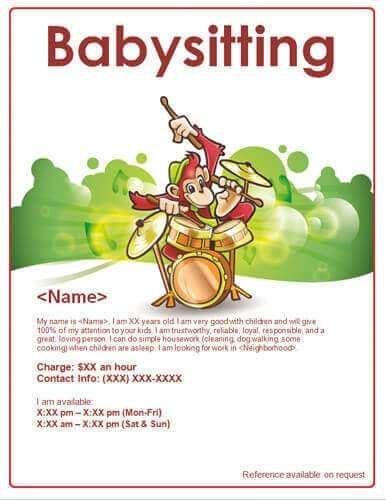 77 Adding Babysitting Flyer Free Template PSD File for Babysitting Flyer Free Template