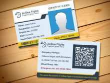 Id Card Template Back