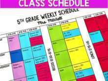 77 Create 5Th Grade Class Schedule Template Now for 5Th Grade Class Schedule Template